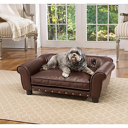Enchanted Home Pet Brisbane Pet Sofa, Pebble Brown, Medium Dogs Up To 30 lbs