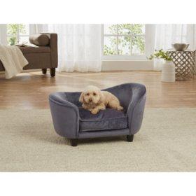 Enchanted Home Pet Ultra Plush Snuggle Sofa Bed, Dark Grey