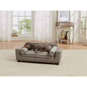 Enchanted Home Pet Scout Lounge Sofa Bed, Grey, Medium Dogs Up To 30 lbs