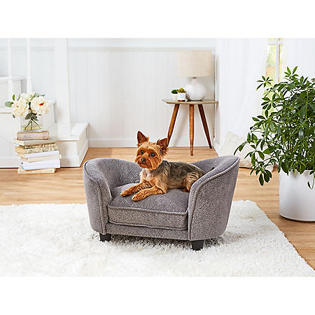 Enchanted Home Pet Snuggle Dog Sofa, Gray, Small Dogs Up To 10 lbs