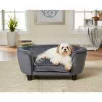 Enchanted Home Pet Coco Pet Sofa, Dark Gray, Small Dogs Up To 10 lbs
