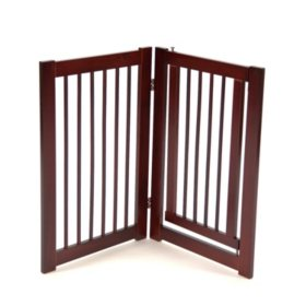 Primetime Petz 360 Pet Gate Extension with Door, Walnut - 30""