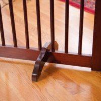 Primetime Petz Support Feet for 360 Configurable Pet Gate Collection, Walnut