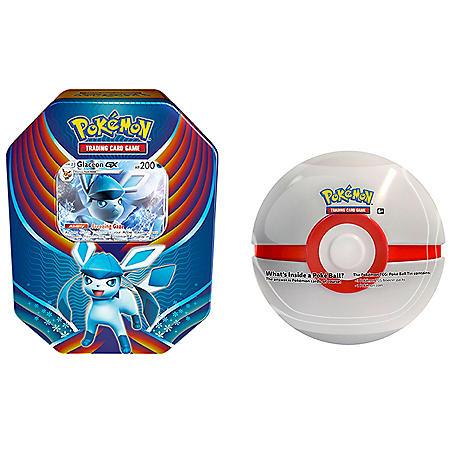 Pokémon TCG: Evolution Celebration (Glaceon-GX) and 1 of 6 random Surprise Pokemon Ball Tins