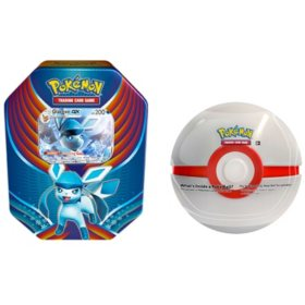 Pokémon TCG: Evolution Celebration (Glaceon-GX) and 1 of 6 random Surprise Pokemon Ball Tins