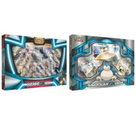Pokémon Tapu Koko Figure Collection and Shiny Tapu Koko-GX Box or Snorlax-GX Box and Lucario-GX Box