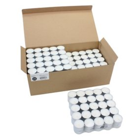 Unscented Long Burning Tea Light Candles, Bulk 300 Pack