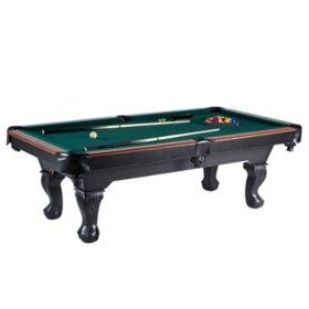 """Barrington 96"""" Ball and Claw Leg Billiard Table"""