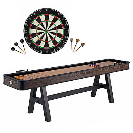 "108"" Shuffleboard Table with Dartboard Set"