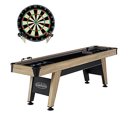 "Barrington 108"" Shuffleboard Table with Bonus Dartboard"