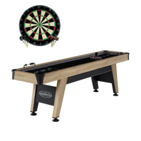 "Barrington 108"" Shuffleboard Table with Bonus Dartboard"