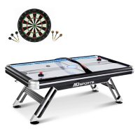 MD Sports Titan 7.5' Air Powered Hockey Table with Bonus Dartboard Set