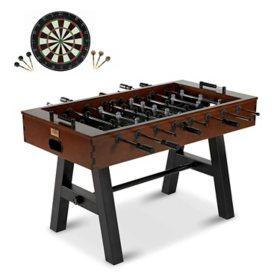 """Barrington 56"""" Allendale Foosball Table with Bonus Dartboard Set"""