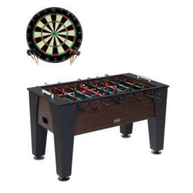 "Barrington Richmond 58"" Foosball Table with Bonus Dartboard"
