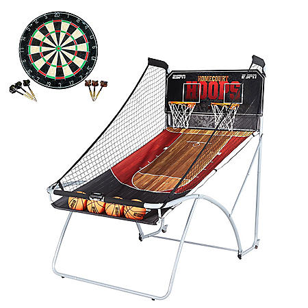 ESPN EZ-Fold Two-Player Basketball Game with Bonus Dartboard