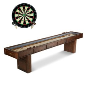 Barrington Webster 12' Shuffleboard Table with Bonus Dartboard