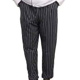 Professional Chef Pants - Black & White Stripe
