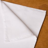 American Dawn Rectangle White Tablecloth - 6 pk.