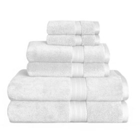Estella Zero Twist 6-Piece Bath Towel Set