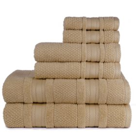 Grace Textured Zero-Twist 6-Piece Bath Towel Set