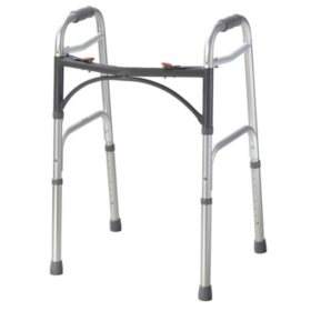 Deluxe Two-Button Folding Walker