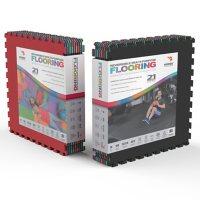 "Norsk 25"" x 25"" Commercial Grade Reversible Floor Mats, Assorted Colors (8 Tiles)"