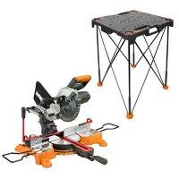 Worx 20V PowerShare Sliding Miter Saw & Sidekick Work Table