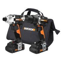 Worx 20V PowerShare Brushless Drill and Impact Driver Kit