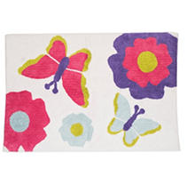 Faze Three 100% Cotton Kids Mat - Butterfly/Flower