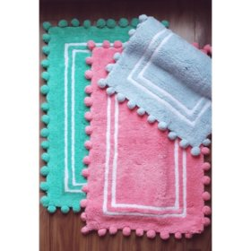 100% Cotton Kids Pom Pom Mat (Various Colors)