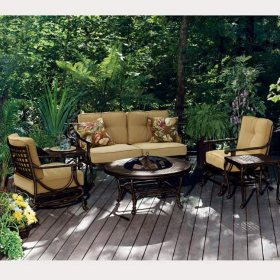 Belize Fire Pit Outdoor Furniture Set  Pc Sams Club