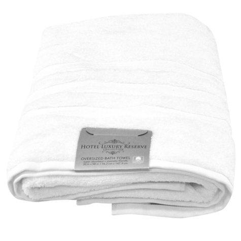 "Hotel Luxury Reserve Collection 100% Cotton Luxury Bath Towel 30"" x 58"""