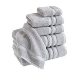 Finesse Zero Twist 100% Cotton 6-Piece Bath Towel Set (Assorted Colors)