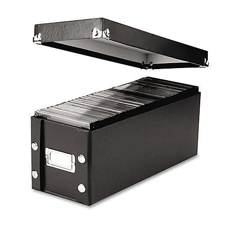 Snap-N-Store CD Storage Box, Holds 60 Slim/30 Standard Cases