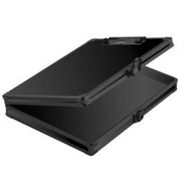 """Vaultz Locking Storage Clipboard, 8-1/2"""" x 11"""", Tactical Black"""