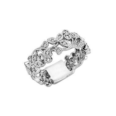 0.50 ct. t.w. Diamond Fashion Band in 14k White Gold (H-I, I1)