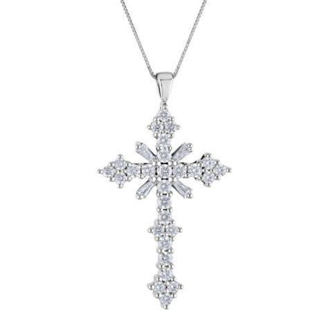 0.46 CT. T.W. Diamond Cross Pendant (IGI Appraisal Value: $850)