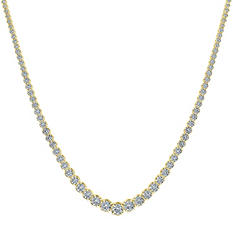 4 ct. t.w. Diamond Riviera Necklace in 14K Yellow Gold (H-I, I1)
