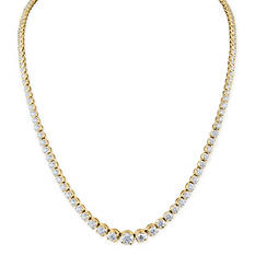 7 ct. t.w. Diamond Riviera Necklace in 14K Yellow Gold (H-I, I1)