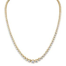 7 CT. T.W. Diamond Riviera Necklace in 14K Gold