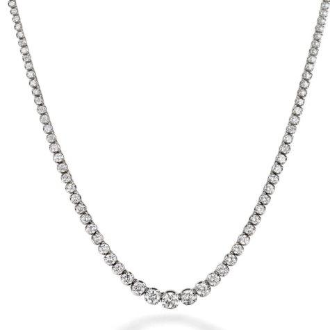10.5 ct. t.w. Diamond Riviera Necklace in 14K White Gold (H-I, I1)