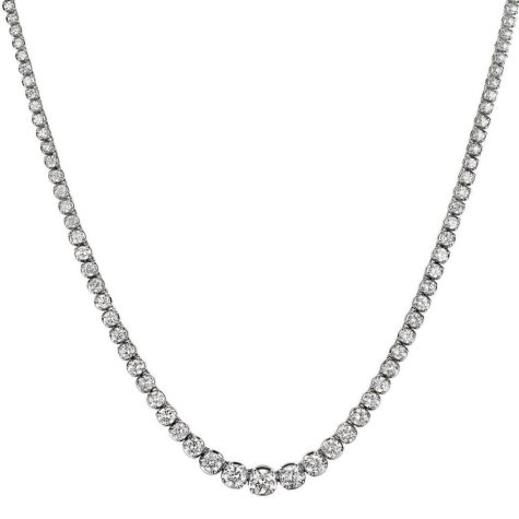 12 ct. t.w. Diamond Riviera Necklace in 14K White Gold (H-I, I1)