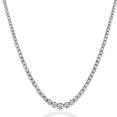 15.5 ct. t.w. Diamond Riviera Necklace in 14K White Gold (H-I, I1)