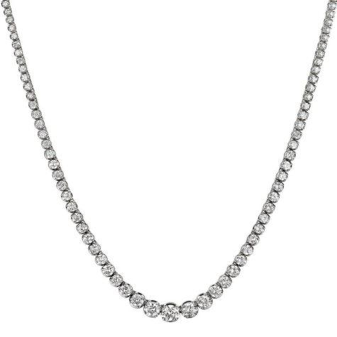16 ct. t.w. Diamond Riviera Necklace in 14K White Gold (H-I, I1)