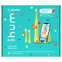 hum by Colgate Kids Battery Toothbrush Kit with Game, Yellow