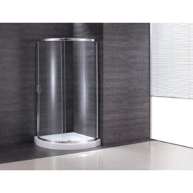 OVE Decors Breeze 34in Shower Kit with Glass Panels & Base