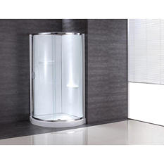 "OVE Decors 36"" Clear Glass Shower Enclosure with Walls"