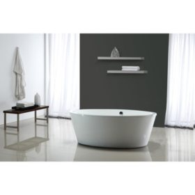 "OVE Decors Marilyn 67"" x 43"" Freestanding Bathtub (White)"