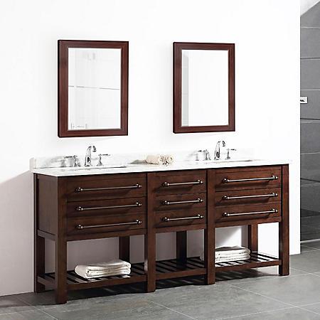 OVE Decors Harry 72-in. Bathroom Vanity in Java Brown with ...