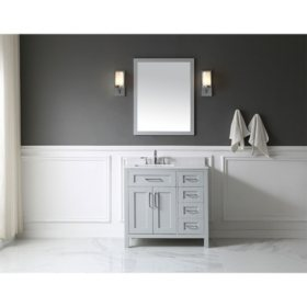 OVE Decors Tahoe 36 in. Bathroom Vanity with Mirror (Dove Grey)